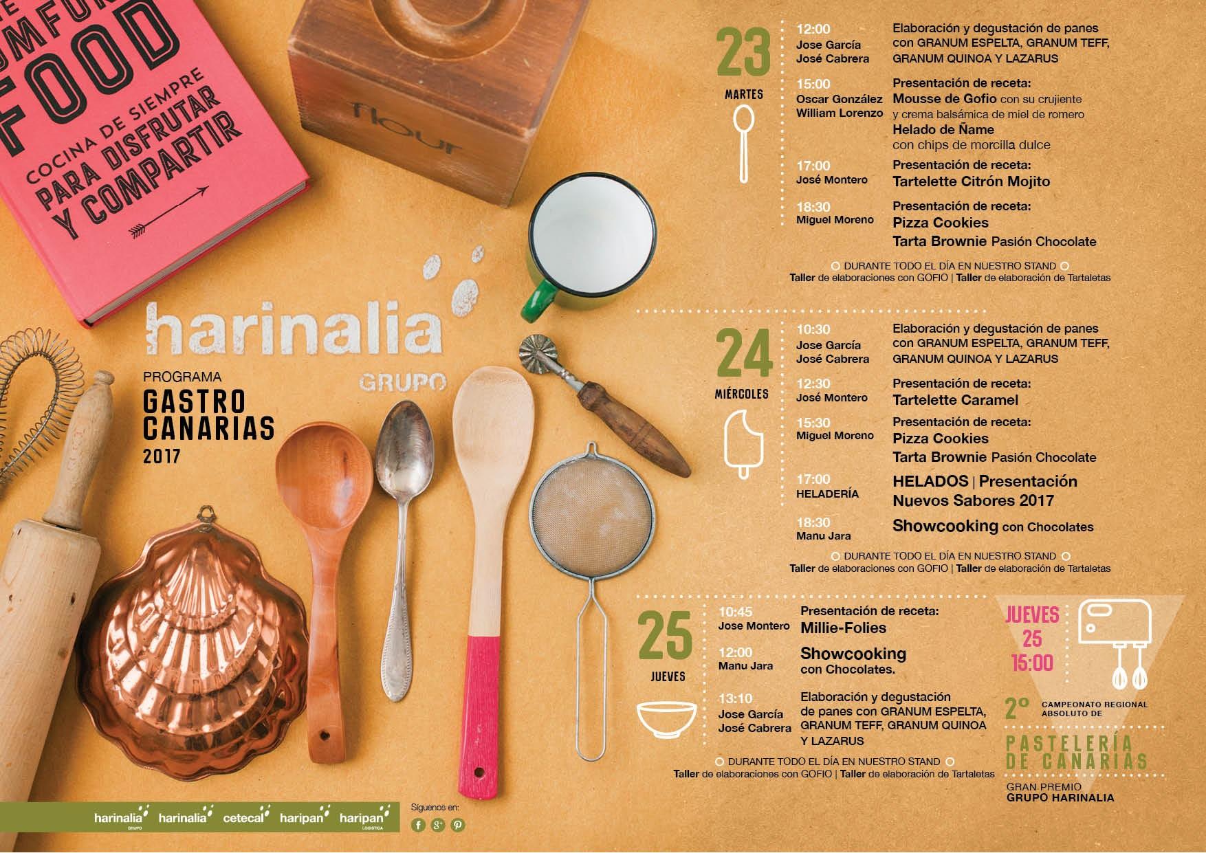 GastroCanarias 2017 Programa de actividades